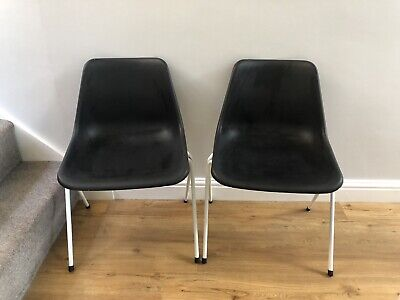 £35 • Buy Genuine Original Robin Day Hille 60-70s Retro Stacking Chair X2 (a Pair)