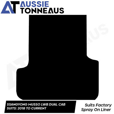 AU108.98 • Buy Rubber Ute Mat For Ssangyong Musso Dual Cab LWB With Factory Liner (2018-Curr)