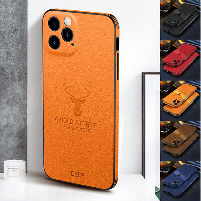 AU8.39 • Buy For IPhone 12 11 Pro Max XS X XR 8 7 Shockproof Hybrid Leather Rubber Case Cover