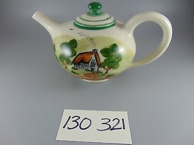 £17.99 • Buy Bovey Pottery Dartmoor Teapot Hand Painted House Industrial Scene 5.5 Inches