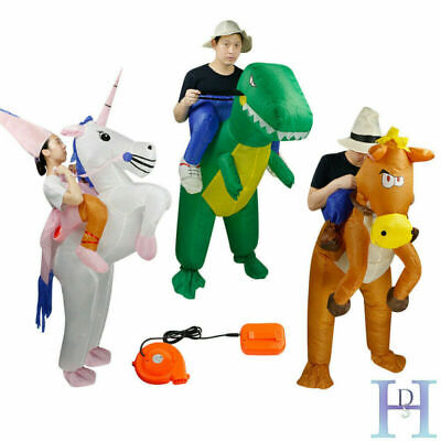 £15.99 • Buy Adult Inflatable Unicorn Horse Dinosaur Fancy Dress Hen Stag Blow Up Costume Gig