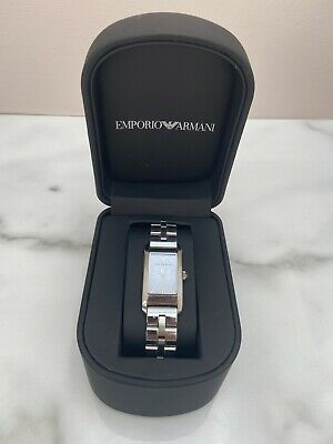 £45 • Buy Ladies Vintage Armani Stainless Steel Watch With Box Spare Links