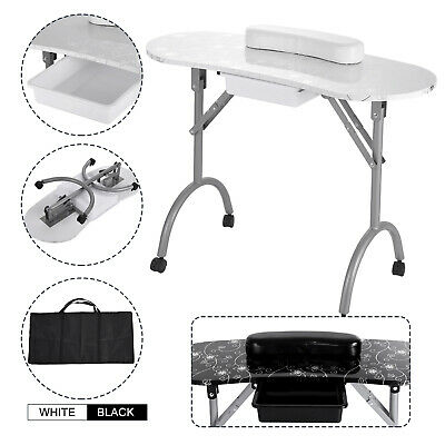 £81.58 • Buy Folding Nail Table Portable Manicure Desk Large Easy Used Flower Surface