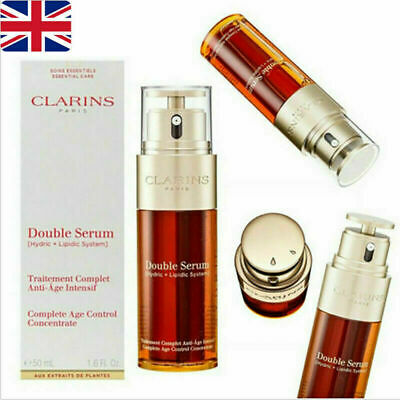 £17.49 • Buy 50ml Concentrate Anti Aging Control Firming UK Clarins Double Serum Complete Age