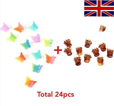 £3.89 • Buy Butterfly Hair Claw Clips Small Plastic Hair Clips Hair Clamps Cool Mix Colour