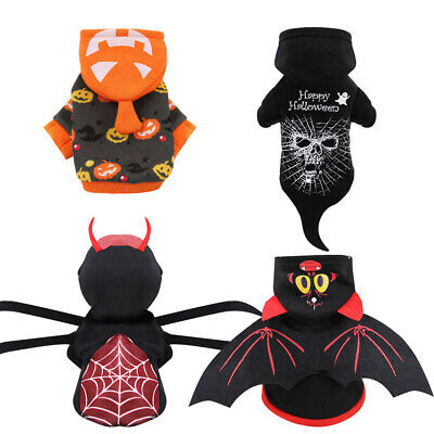 £4.95 • Buy Halloween Pet Dogs Cats Jumpsuit Costume Spooky Party Fancy Dress Outfit Sweater