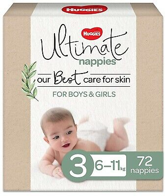 AU36.75 • Buy Huggies Ultimate Nappies Size 3 (6-11kg) 72 Count