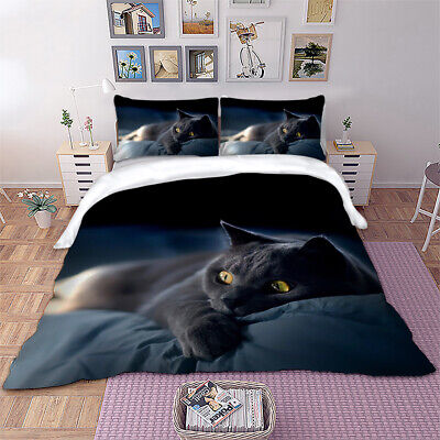 £27.99 • Buy Cat Duvet Quilt Cover 3D Animal Bedding Set With Pillowcases Single Double King