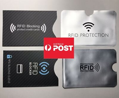AU2.99 • Buy RFID Blocking ID Credit Card Protector Sleeve Holder Cover Anti Scan SYD STOCK