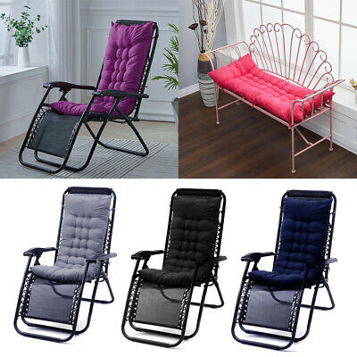 £14.95 • Buy Replacement Cushion Pad Garden Sun Lounger Recliner Chair Cotton Seat Pad 3 Size