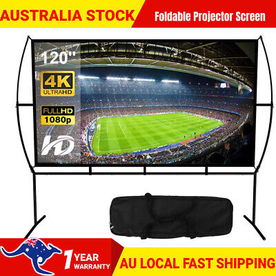 AU119.90 • Buy 120 Inch Projector Screen With Stand Home Theater Outdoor Movie Screen Cinema