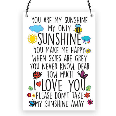 £4.99 • Buy You Are My Sunshine Cute Quote Small Metal Plaque Sign Gift