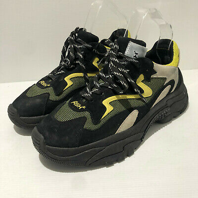 £75 • Buy ASH Addict Chunky Black Yellow Green Leather Trainers Sneakers 40 7 VGC SOLD OUT