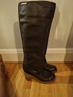 £50 • Buy See By Chloe Long Brown Leather Boots