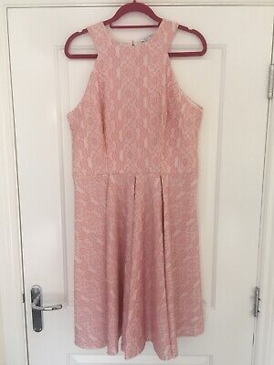 £30 • Buy Next Size 16 Tall Baby Pink Lace Fit & Flare Dress Occasionwear