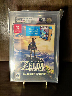 AU2056.27 • Buy The Legend Of Zelda Breath Of The Wild Explorers Edition VGA Graded 85+ Gold NM+
