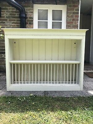 £80 • Buy Wall Mounted Kitchen Or Dining Room Wooden Plate Rack With Storage Space Above