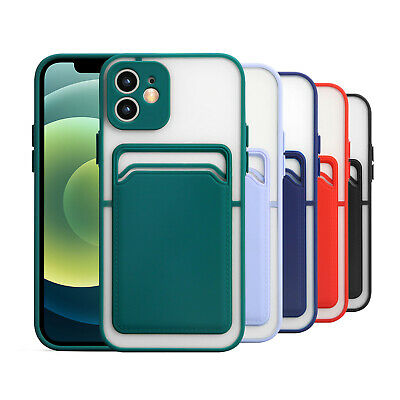 AU15.39 • Buy Wallet Card Holder Clear Rubber Case Cover For IPhone 12 11 Pro Max XS X XR 8 7+