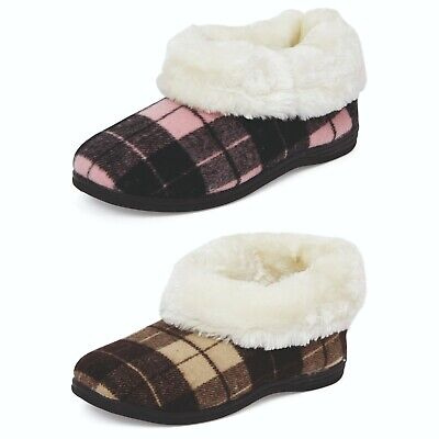 £9.95 • Buy Slippers Ladies Womens Boot Fleece Lined Fur Non Slip Sole Comfort Fit Cushioned