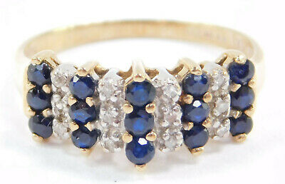 AU278.15 • Buy 9ct Gold Sapphire And Diamond Ring,
