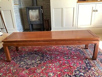 """£80 • Buy 5' Long But Narrow 18"""" Solid Mahogany Coffee Table In Good Condition"""