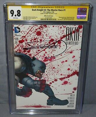 £254.17 • Buy DARK NIGHT III: THE MASTER RACE #1 (Frank Miller Signed Variant Cover) CGC 9.8