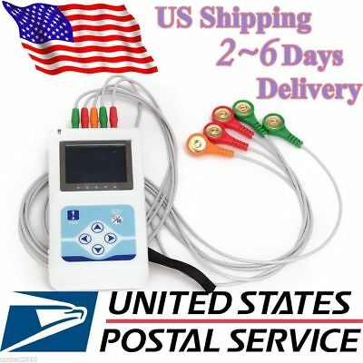 £217.50 • Buy 3 Channel 24hours Holter Monitor ECG/EKG System Machine,pacemaker Analyzer,NEW