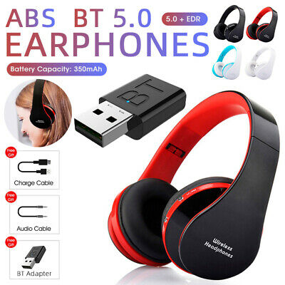 AU23.74 • Buy Noise Cancelling Wireless Headphones Bluetooth 5.0 Earphone Headset With Mic Hot