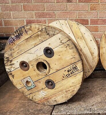 £19.99 • Buy Wooden Electric Cable Drum Perfect As Coffee Patio Table Bookshelf Clock XS Size