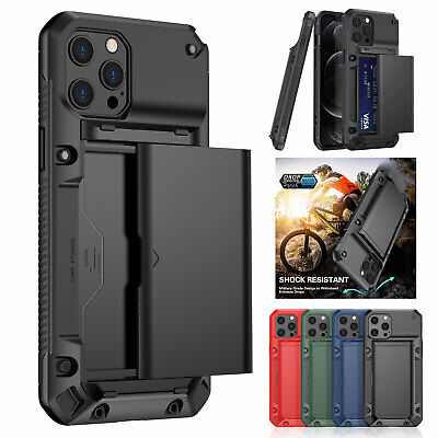 AU12.94 • Buy Case For IPhone 12 11 Pro Max XS XR 8 7+ SE Shockproof Card Holder Wallet Cover