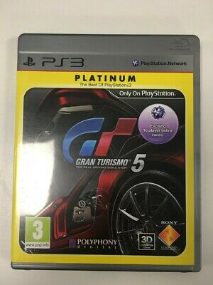£5 • Buy Gran Turismo 5 The Real Driving Simulator Sony PlayStation 3 Game Includes Guide