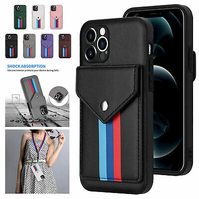 AU12.48 • Buy Fr IPhone 11 12 Pro XS Max XR 6 7 8+ Leather Card Holder Wallet Stand Case Cover