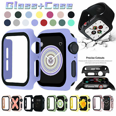 AU7.86 • Buy For Apple Watch Series 6/SE/5/4 40/44mm Bumper PC Case Built-in Screen Protector