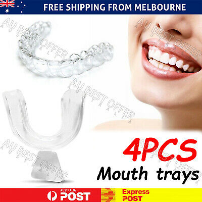 AU8.98 • Buy 4x Teeth Whitening Mouth Trays Custom Self Mould Thermo Plastic Clear Guards AU