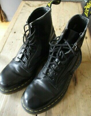 £63.99 • Buy Dr. Martens 1460 10072 8-hole Smooth Black Leather Boots (uk-8) Shoes Airwear