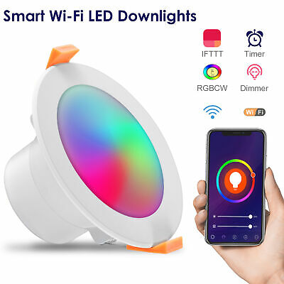 £9.99 • Buy Smart LED Downlight RGB Changing Color APP Control Dimmabl Alexa Voice Spotlight