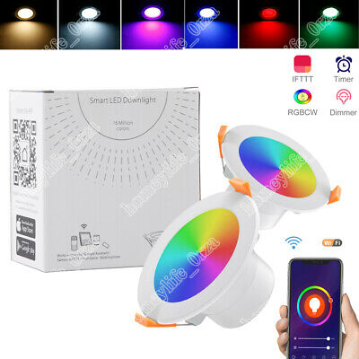 £9.97 • Buy WiFi Smart RGB LED Downlight Dimming Round Spot Light Colour Changing 6500K