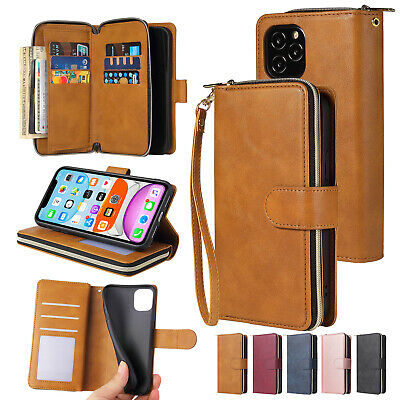 AU8.16 • Buy Zipper Wallet Leather Card Case For IPhone 13 12 11 Pro Max XS XR 678 Plus Cover