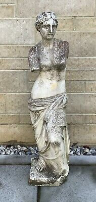 £48.99 • Buy Weathered Stone Garden Greek Grecian Roman Woman Statue ( Pick Up Only )