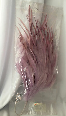 £3.50 • Buy Lilac Hackle And Biot Feather Millinery Fascinator Mount