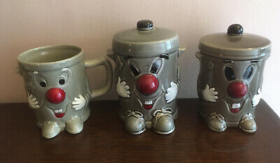 £18 • Buy Dusty Bin 3-2-1 TV Show 80's Vintage Collection 2 Money Boxes And Mug Ceramic