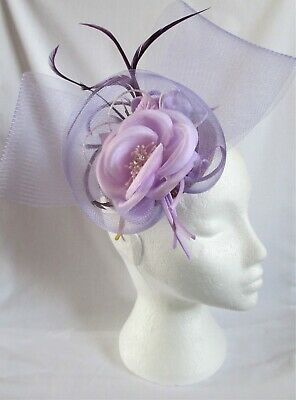 £19.99 • Buy Brand New Hand Crafted Lilac Fascinator