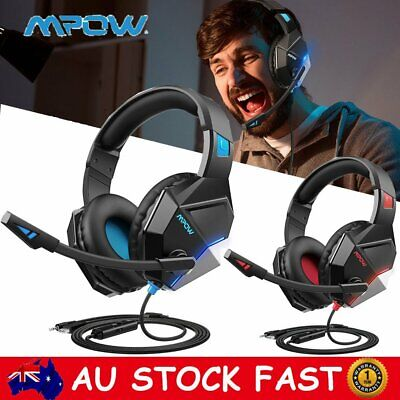 AU34.09 • Buy Mpow Gaming Headset MIC LED Surround Headphones For PC PS4 PS5 Xbox One Switch