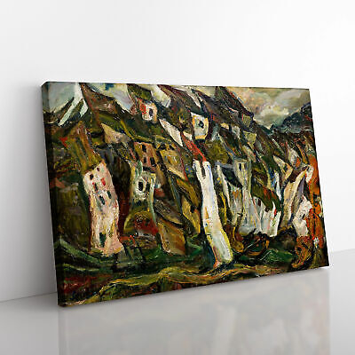 £19.95 • Buy Houses By Chaim Soutine Canvas Print Wall Art Picture