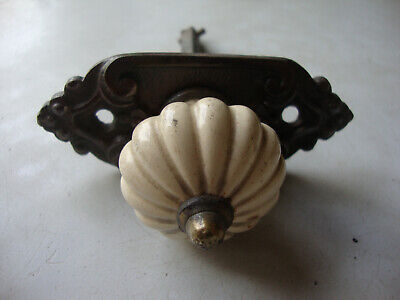 £120 • Buy Fine Petite And Very Pretty Victorian Porcelain And Brass Bell Pull