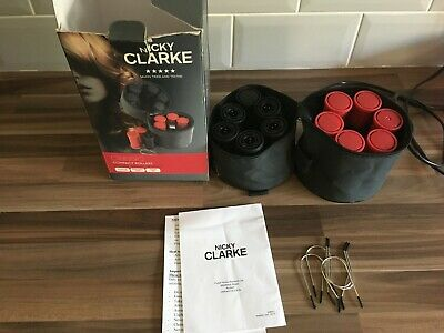 £12.99 • Buy NICKY CLARKE COMPACT TRAVEL HEATED HAIR & CLIPS ROLLERS CURLERS Boxed