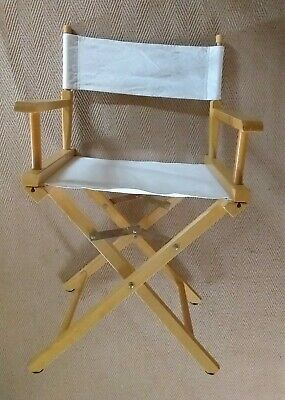 £32 • Buy  Vintage Style Directors Folding Deck Chair Wood With Canvas Seat