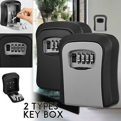 £9.88 • Buy Code Lock Wall Mounted Home Key Safe Box Outdoor High Security Storage 4 Digit