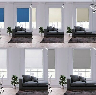 £14.99 • Buy Scalloped Roller Blinds Easy Fit Child Safety Cut To Size Fixing Incl Blind