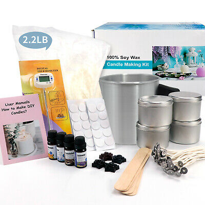 £35.99 • Buy DIY Candle Making Kit Gift Craft Tool Soy Wax Flakes Wicks Pitcher Fragrance Oil